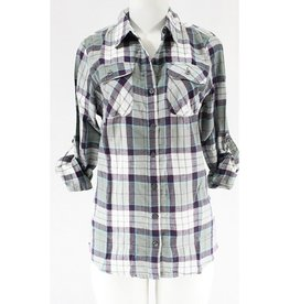 With Every Chance Plaid Flannel - Sage/Wine