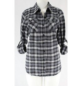 Wind Down Plaid Flannel - Black/Grey