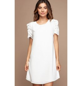 Save Me From Myself Shift Dress - Off White