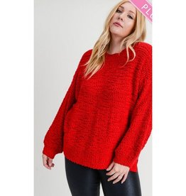 Bring It On Bouble Knit Pullover - Red