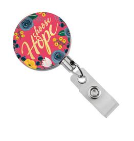 Badge Reel - Monoco Choose Hope