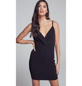 Feelings For You Lace Detail Open Back Bodycon Mini Dress - Black