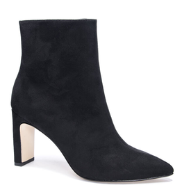 CHINESE LAUNDRY Erin Fine Suede Heeled Bootie - Black