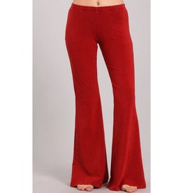 Nine To Five Bell Bottom Pants - Red