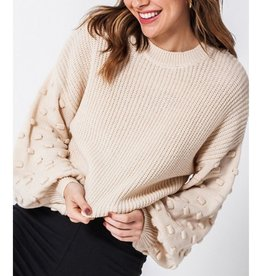 Fit For Fall Balloon Sleeve Sweater - Cream