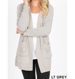 Starry Nights Popcorn Cardigan - Light Grey