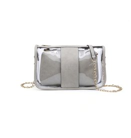 Game Day Clear Bag - Light Gray