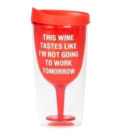 Tomorrow Wine Tumbler