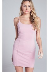 Not Afraid To Live Mini Dress With Back Zipper - Blush