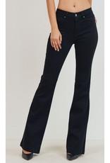Casual Daze High Rise Skinny Boot Cut Jeans - Black