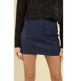 Just Let It Be Mini Skirt - Navy