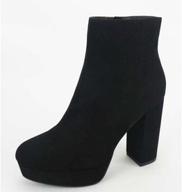 Been Here Waiting Heeled Booties - Black