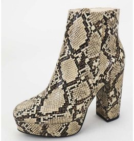 Been Here Waiting Heeled Booties - Snake