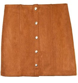 Illuminate The Room Suede Mini Skirt - Cognac
