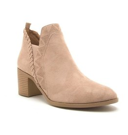 In My Zone Ankle Booties- Taupe
