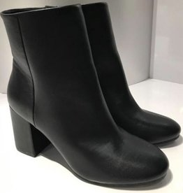 Totally Into This Leather Ankle Booties - Black
