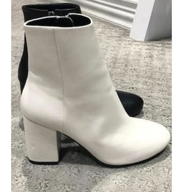 Totally Into This Leather Ankle Booties - White