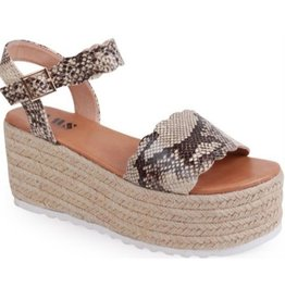 Carry Yourself Platform Band Sandal - Snake
