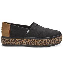 TOMS Alpargata Boardwalk Slip On - Black Heritage/Leopard