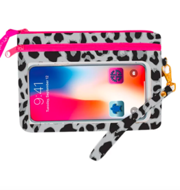 SIMPLY SOUTHERN Phone Wristlet - Leopard Gray