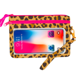 SIMPLY SOUTHERN Phone Wristlet - Leopard Cream