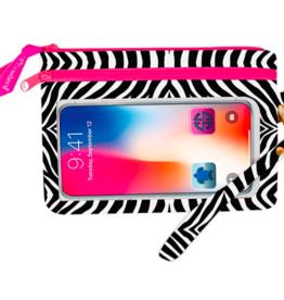 SIMPLY SOUTHERN Phone Wristlet - Zebra