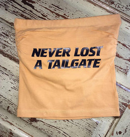 Never Lost A Tailgate Tube Top - Mustard