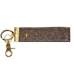SIMPLY SOUTHERN Leather Key Fob - Chrome
