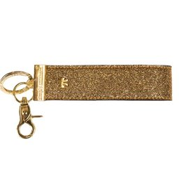SIMPLY SOUTHERN Leather Key Fob - Gold