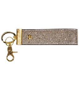 SIMPLY SOUTHERN Leather Key Fob - Silver