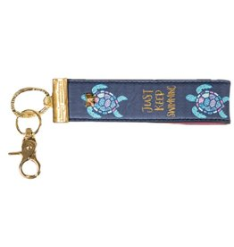 SIMPLY SOUTHERN Leather Key Fob - Turtle
