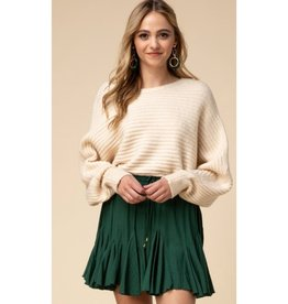This Is Everything Ruffle Drawstring Skirt - Hunter Green