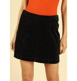 Take Me Far Away High Waist Corduroy Mini Skirt - Black
