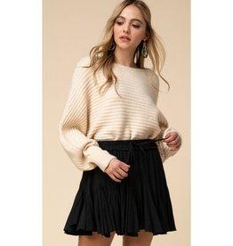This Is Everything Ruffle Drawstring Skirt - Black