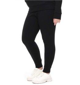I Need Your Time Fleece Knit Jogger Sweatpants - Black