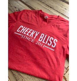 Established 2011 Cheeky Bliss Graphic Tee - Red