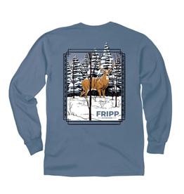 FF-Deer In Snow-LONGSLEEVE-Marine