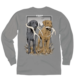 FF-Shed Antler Dogs-LONGSLEEVE-Grey