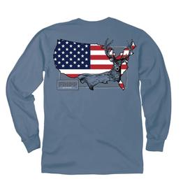 FF-American Deer-LONGSLEEVE-Marine