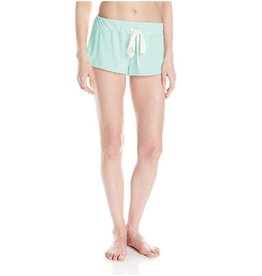 Heather Front Tie Lounge Shorts - Sky Blue