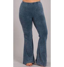 Nine To Five Bell Bottom Pants - Steel Blue