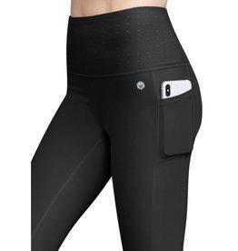 Get In Line Power Mesh Body Shaper Compression Leggings - Black