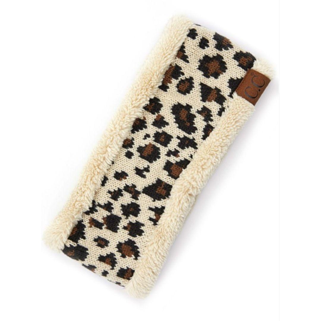 C.C Leopard Headwrap - Beige