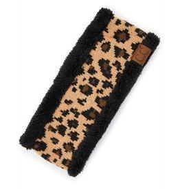 C.C Leopard Headwrap - Black