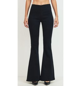 Listen To My Heart Mid Rise Wide Flare Jeans - Black