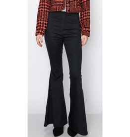 Words Can't Say Flare Leg Pants - Black