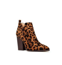 Get To Where You're Going Side Cutout Ankle Booties - Leopard