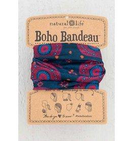 Boho Bandeau - Navy Berry Medallion