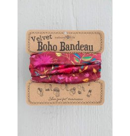 Velvet Bandeau - Berry Wildflower