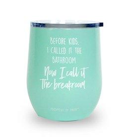 Stainless Stemless Wine Glass- Breakroom Aqua